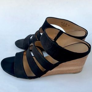 "Franco Sarto ""Mistic"" black wedge heel"